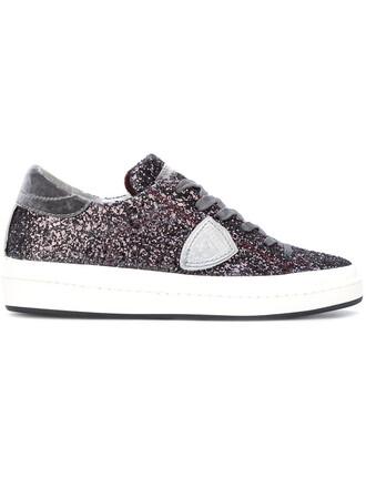 paris women sneakers leather grey shoes