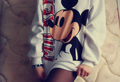sweater,disney,mickey mouse,cute,sweatshirt,girl,minnie mouse,white,white sweater,disney sweater,mickey mouse hoodies,oversized sweater,pull mickey,jacket,fashion,style,hoodie,vintage,walt disneyworld