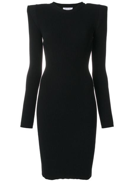 MUGLER dress women spandex black