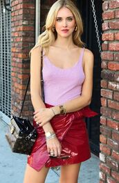 top,tank top,mini skirt,chiara ferragni,the blonde salad,blogger,instagram,bodysuit