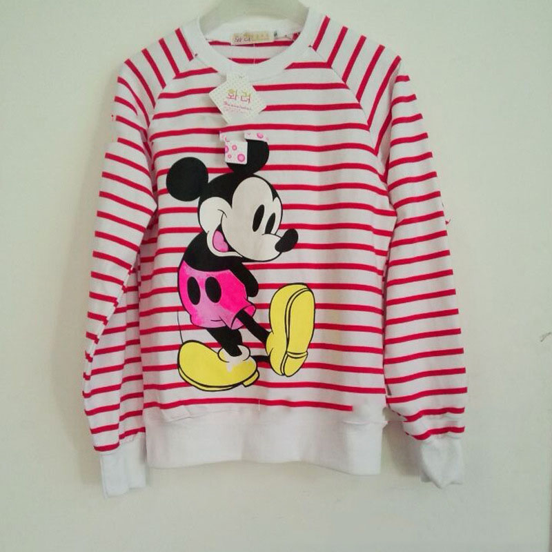 Mickey mouse cartoon woman butterfly t shirt striped sweater hoodie h033 · foreverfashion · online store powered by storenvy