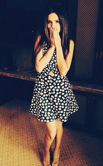 selena gomez floral dress