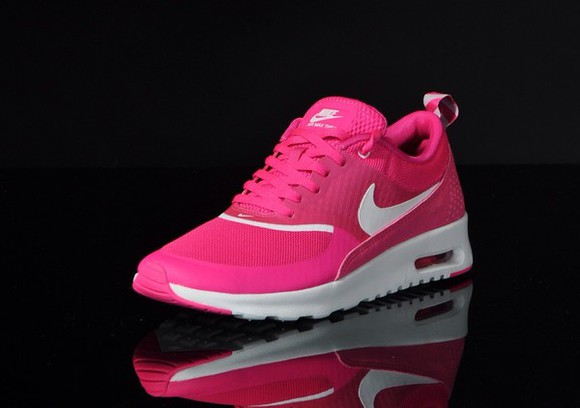 shoes nike trainers pink nike thea