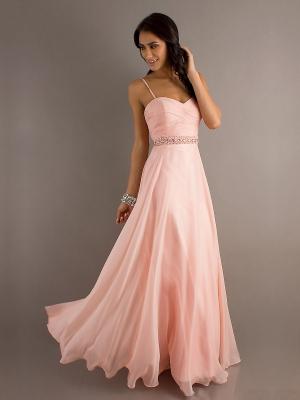 Buy Fabulous A-line Spaghetti Straps Floor Length Prom Dress    under 200-SinoAnt.com