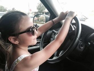 white dress girly black fashion sunglasses pink sunglasses pink dress