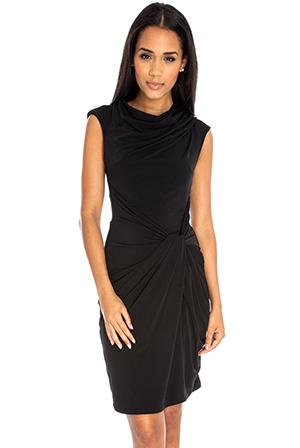 Draped tailored dress