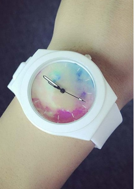 jewels watch fashion white trendy galaxy print cool beautifulhalo