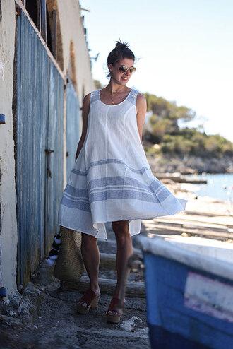 thank fifi blogger dress shoes bag jewels summer outfits basket bag