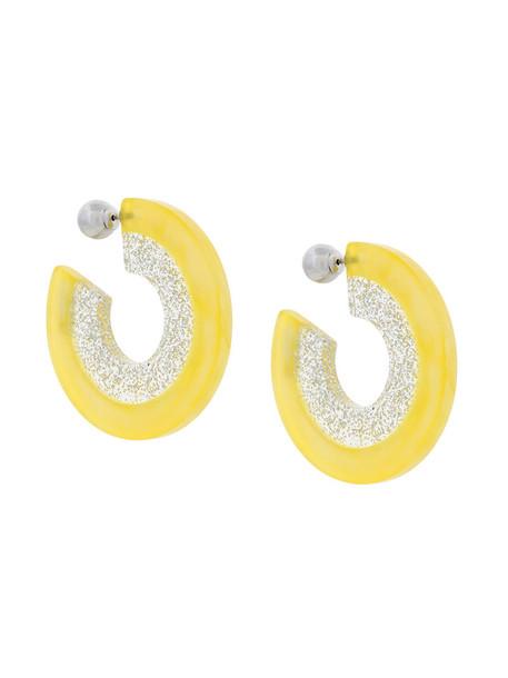 Bijou R.I women earrings silver grey metallic jewels