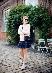 passions for fashion,blogger,sweater,skirt,shoes,sunglasses,bag,jewels