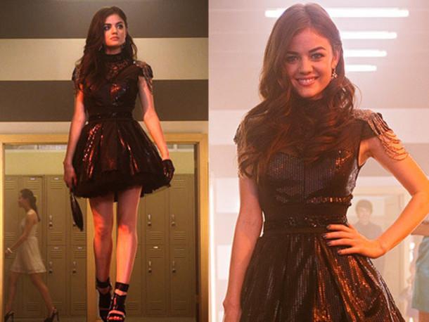 Pretty Little Liars Dress Black Prettylittleliars Lucy Hale Aria
