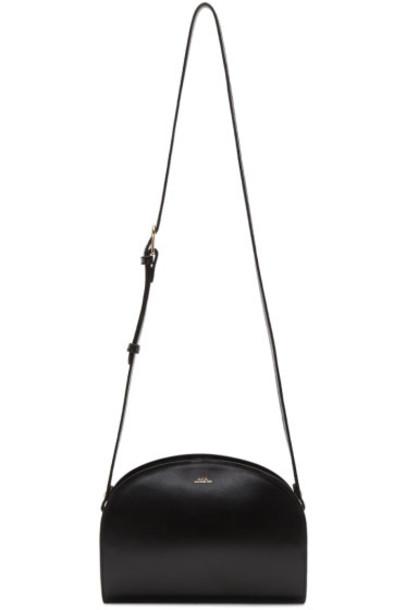 A.P.C. Black Half-Moon Bag