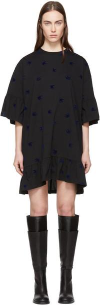 McQ Alexander McQueen dress shirt dress t-shirt dress mini black