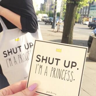 bag yeah bunny belt shut up im a princes