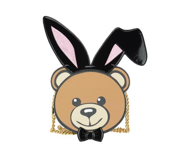 Moschino bear bag black brown