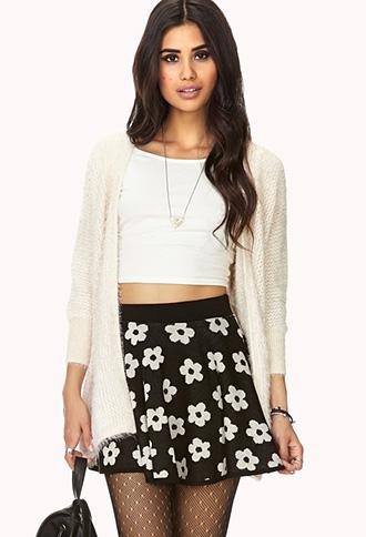 Retro Daisy Skater Skirt | FOREVER21 - 2000065850