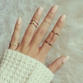 jewels,ring,nail polish,knuckle ring,chain,nail accessories,belt,gold,littlerings,gold ring,midi rings hand jewelry,rings and jewelry,jewelry,rings and tings,rings cute summer,gold midi rings,boho jewelry,gold jewelry,pretty,gorgeous,sexy,beautiful,want,fashion,fashion coolture,trendy,free vibrationz