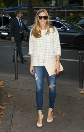 jeans,olivia palermo,fall outfits,sunglasses