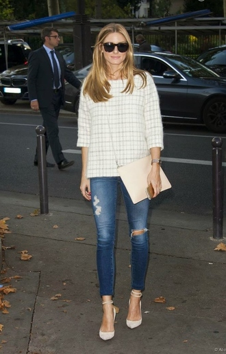 jeans olivia palermo fall outfits sunglasses