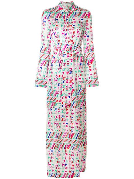 Galvan dress shirt dress women silk
