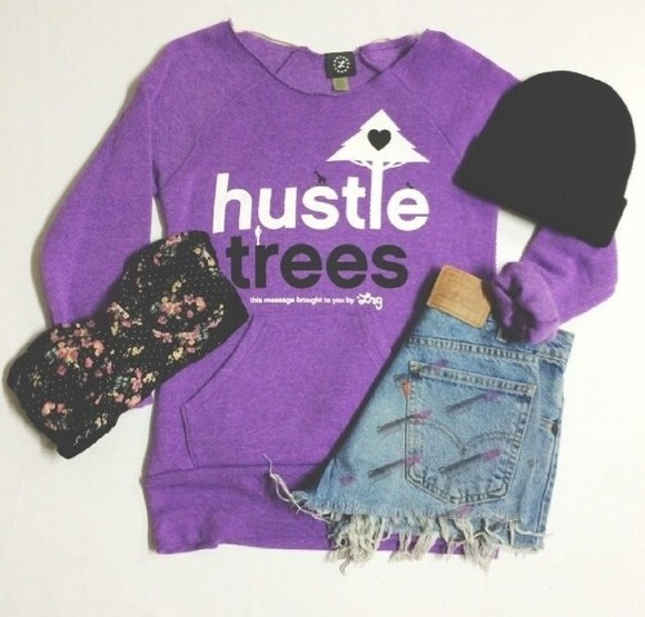 flowers liberty underwear sweater purple sweater