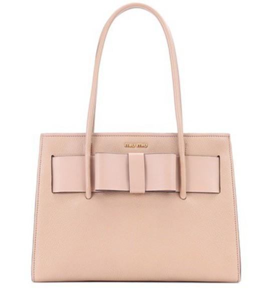 Miu Miu leather beige bag