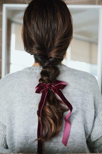 hair accessory hair hairstyles hair bow brunette braid