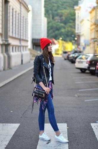 vogue haus blogger shirt jeans jacket shoes bag hat jewels