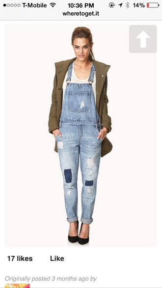 jumpsuit denim overall jumpsuit pockets jeans longoveralls