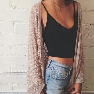 cardigan summer cradigan beige oversized fashion top