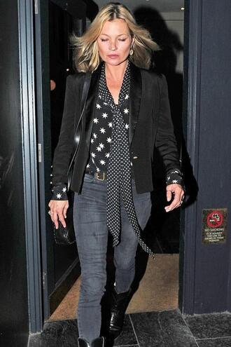 blouse shirt jeans blazer jacket