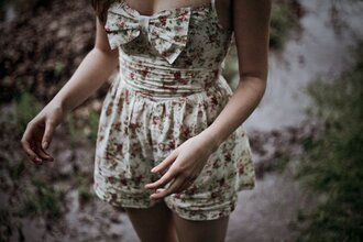 bow romper jumpsuit flowers mono dress one piece swimsuit? floral romper #bow #floral