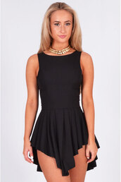 dress,ladies,cosima,pleated,mini,black