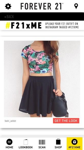 black skater skirt skirt