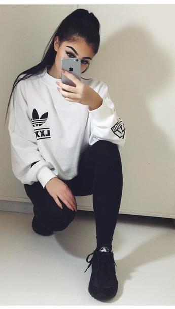 adidas Berlin White Logo Sweatshirt Urban Outfitters