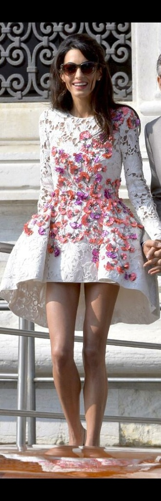 dress summer dress flowered dress lace dress highlowskirt