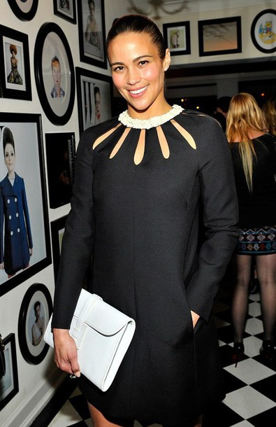 paula patton cut-out dress cocktail dress