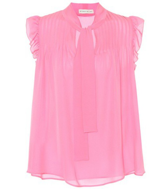 ETRO blouse silk pink top