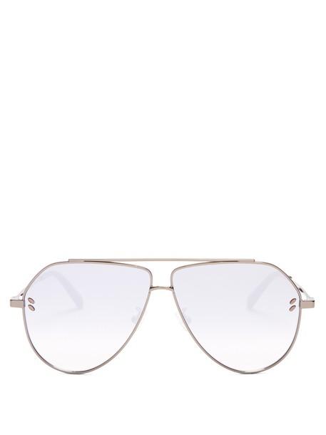 Stella McCartney sunglasses aviator sunglasses silver grey