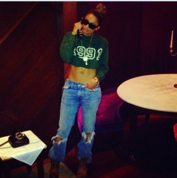 shirt crop tops long sleeved girls girl 1991 90s green vintage ciara winter crew neck