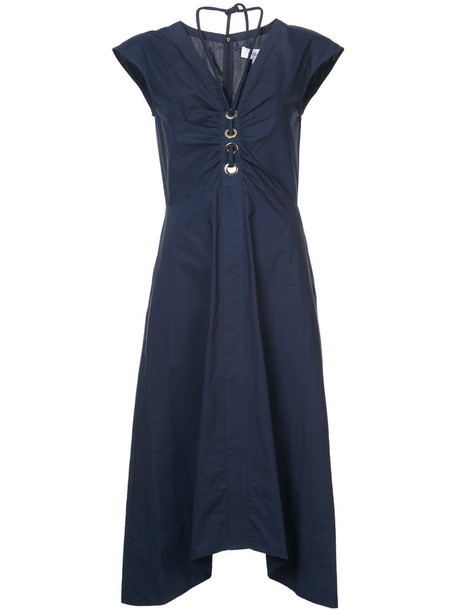 DEREK LAM 10 CROSBY dress short sleeve dress short women cotton black
