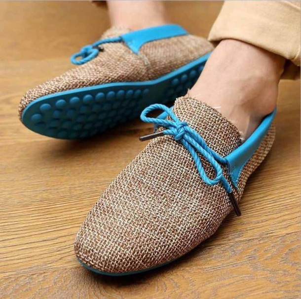 shoes mens menswear mens shoes burlap blue brown bluelace brown odema loafers mens loafers