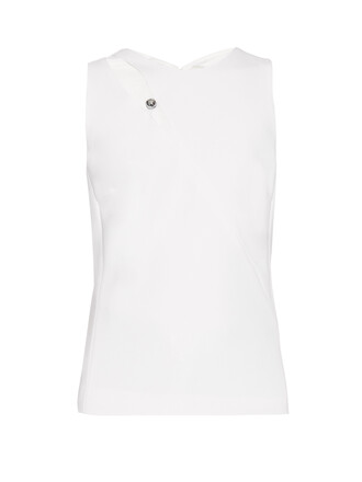 top sleeveless cut-out white