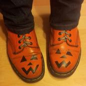 shoes,pumpkin,boots,dc martens