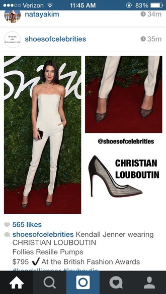 kendall jenner shoes jumpsuit