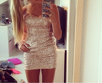 dress gold glitter