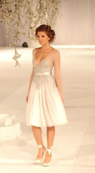 dress short wedding dress