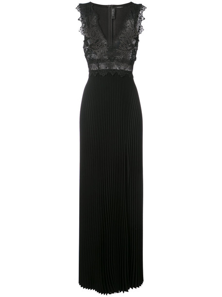 Yigal Azrouel gown women embellished black coral dress