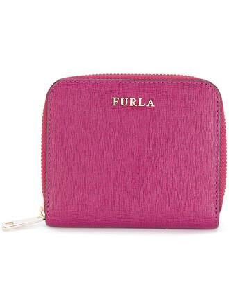 zip women purse leather purple pink bag
