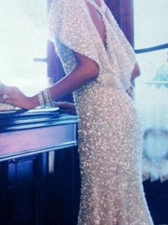 dress silver dress sparkly dress long prom dress prom gown prom dress shinny formal dress